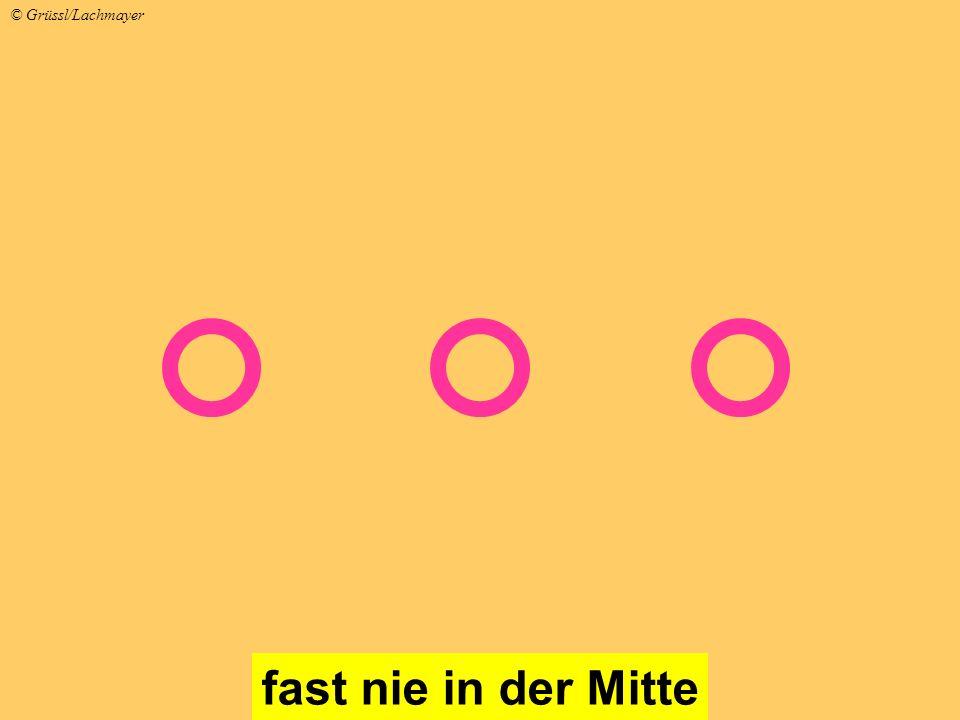 fast nie in der Mitte © Grüssl/Lachmayer