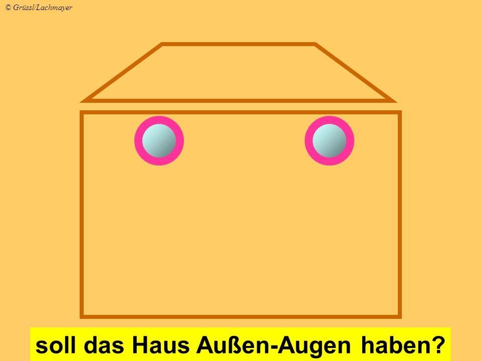 soll das Haus Außen-Augen haben? © Grüssl/Lachmayer