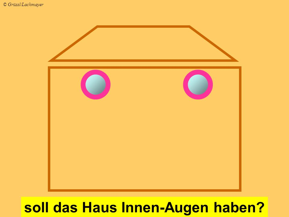 soll das Haus Innen-Augen haben? © Grüssl/Lachmayer