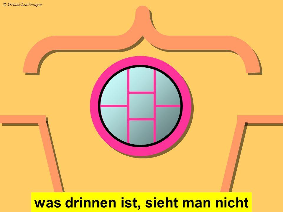 was drinnen ist, sieht man nicht © Grüssl/Lachmayer