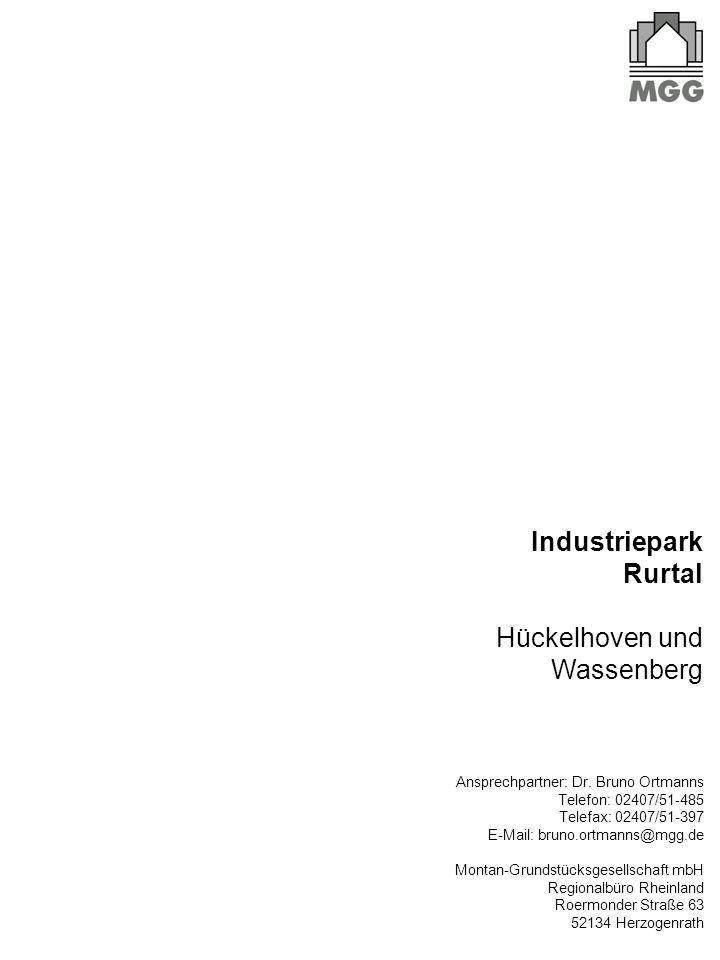 Industriepark Rurtal Hückelhoven und Wassenberg Ansprechpartner: Dr.