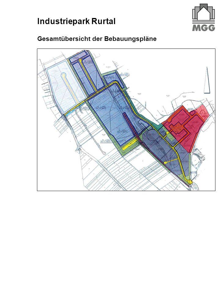 Gesamtübersicht der Bebauungspläne Industriepark Rurtal