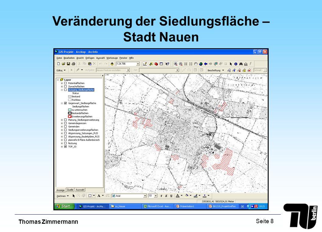 Thomas Zimmermann Seite 8 Veränderung der Siedlungsfläche – Stadt Nauen