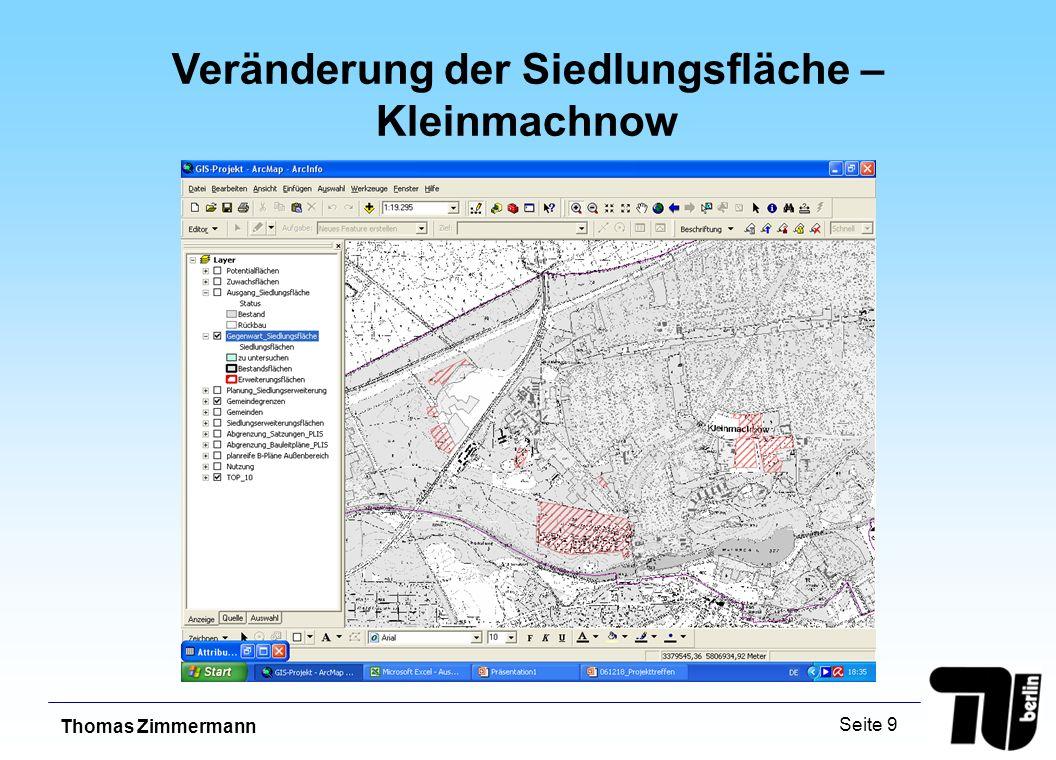 Thomas Zimmermann Seite 9 Veränderung der Siedlungsfläche – Kleinmachnow