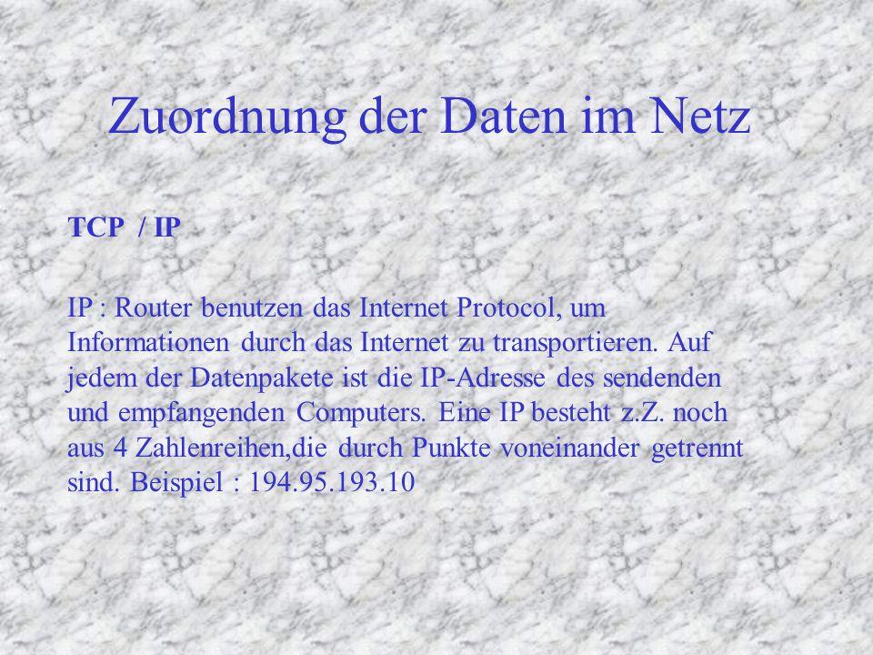 Telnet (1972) FTP Gopher News (NNTP) POP3IMAP E-Mail (SMTP) WWW (http) Dienste und ihre Protokolle IRC (ca.