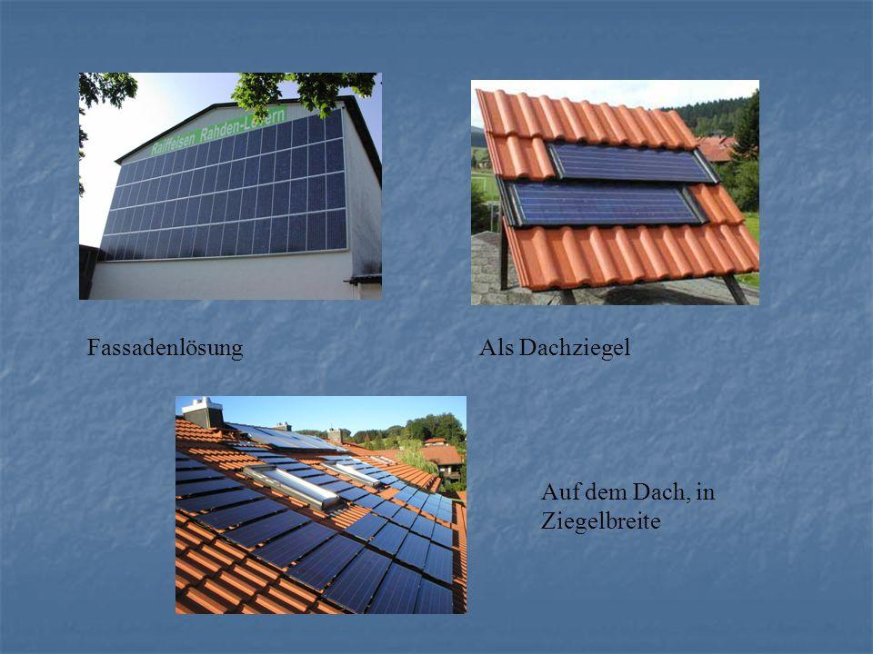 FassadenlösungAls Dachziegel Auf dem Dach, in Ziegelbreite