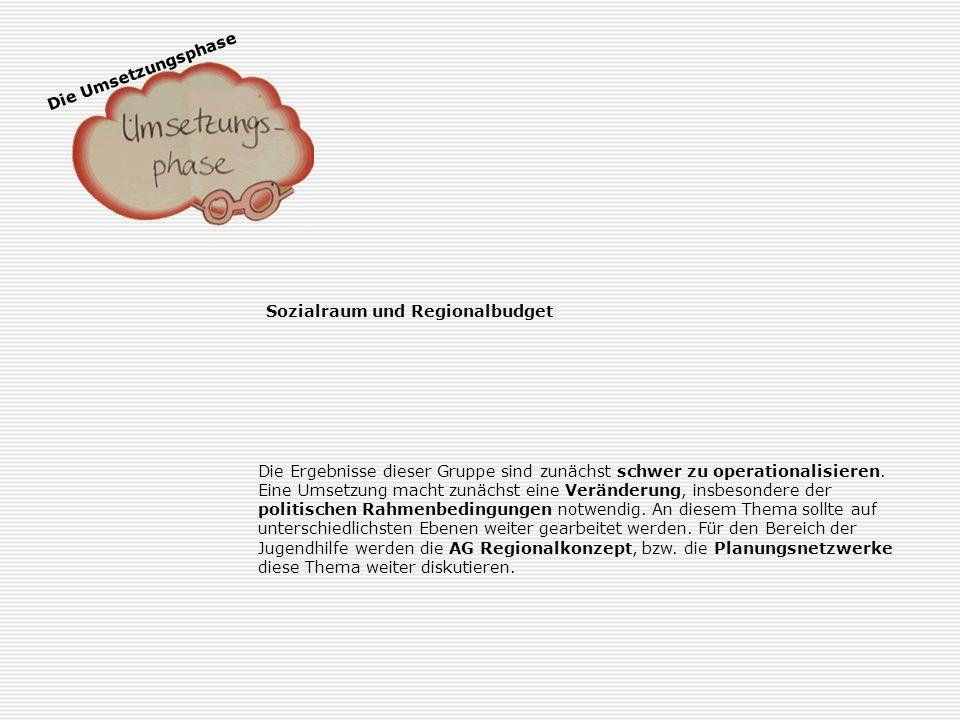 Die Umsetzungsphase Sprachförderung in der Horner Geest Dieses Thema wurde sehr konkret operationalisiert, da es in der Horner Geest ohnehin entsprech