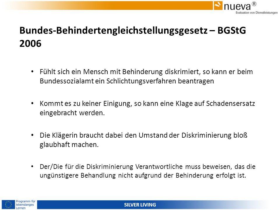 Bundes-Behindertengleichstellungsgesetz – BGStG 2006 Fühlt sich ein Mensch mit Behinderung diskrimiert, so kann er beim Bundessozialamt ein Schlichtun