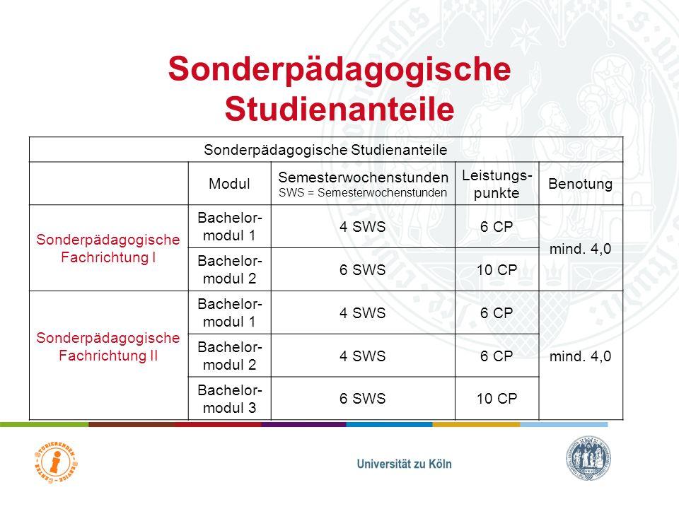 Semesterwochenstunden (SWS) = Einheit, in der das Präsenzstudium (Kontaktzeit) gemessen wird. 2 SWS = i.d.R. 90 Minuten