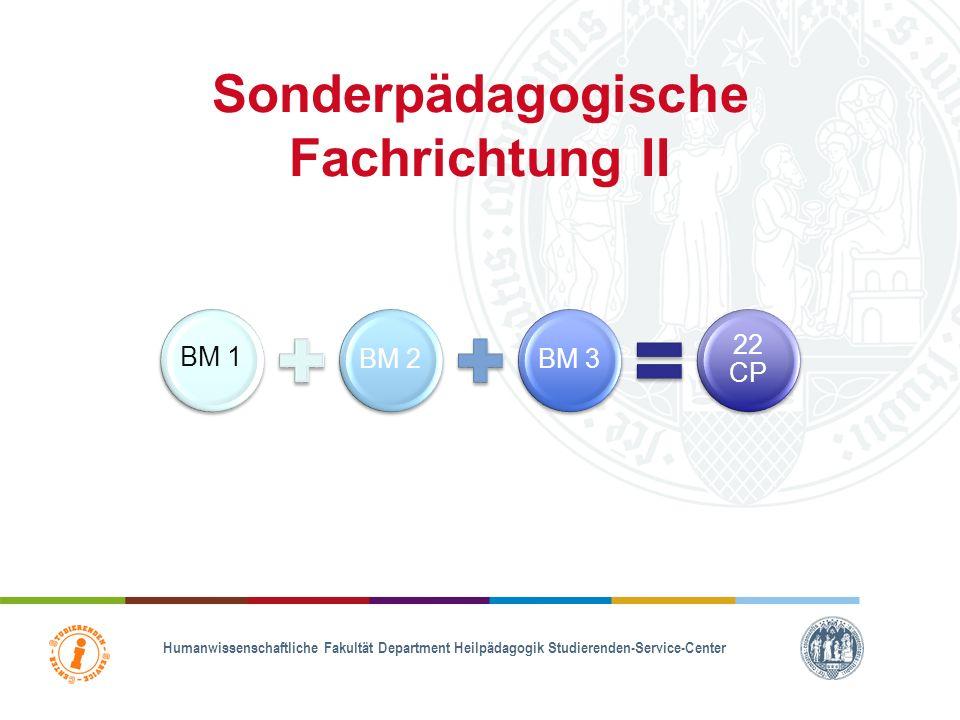 Sonderpädagogische Fachrichtung I BM 3 entfällt!!! wird im Masterstudium durch ein zusätzliches Mastermodul ersetzt