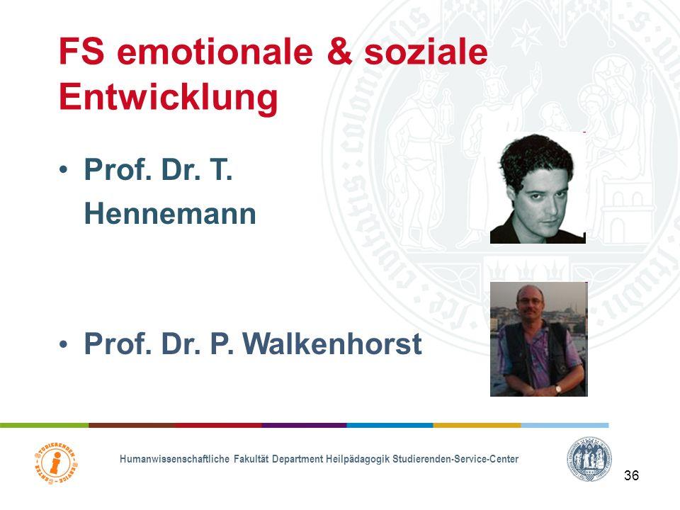 Humanwissenschaftliche Fakultät Department Heilpädagogik Studierenden-Service-Center 35 FS Lernen Prof. Dr. M. Grünke N. N.