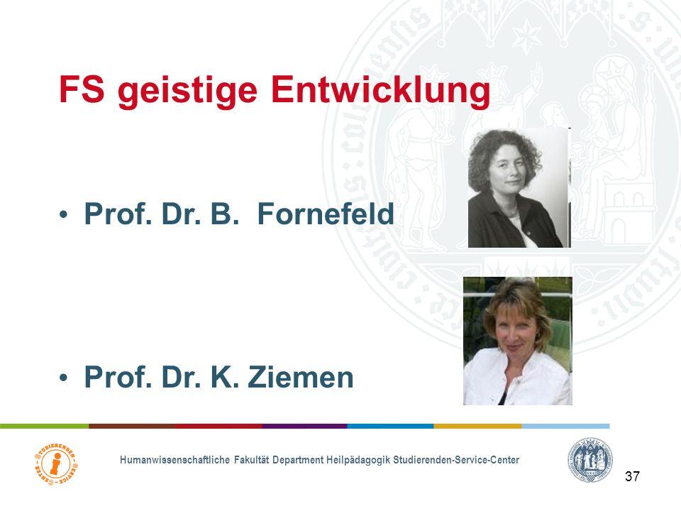Humanwissenschaftliche Fakultät Department Heilpädagogik Studierenden-Service-Center 36 FS emotionale & soziale Entwicklung Prof. Dr. T. Hennemann Pro