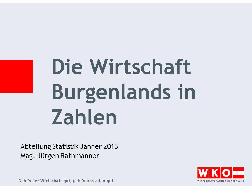 Abteilung Statistik Jänner 2013 Mag. Jürgen Rathmanner Die Wirtschaft Burgenlands in Zahlen