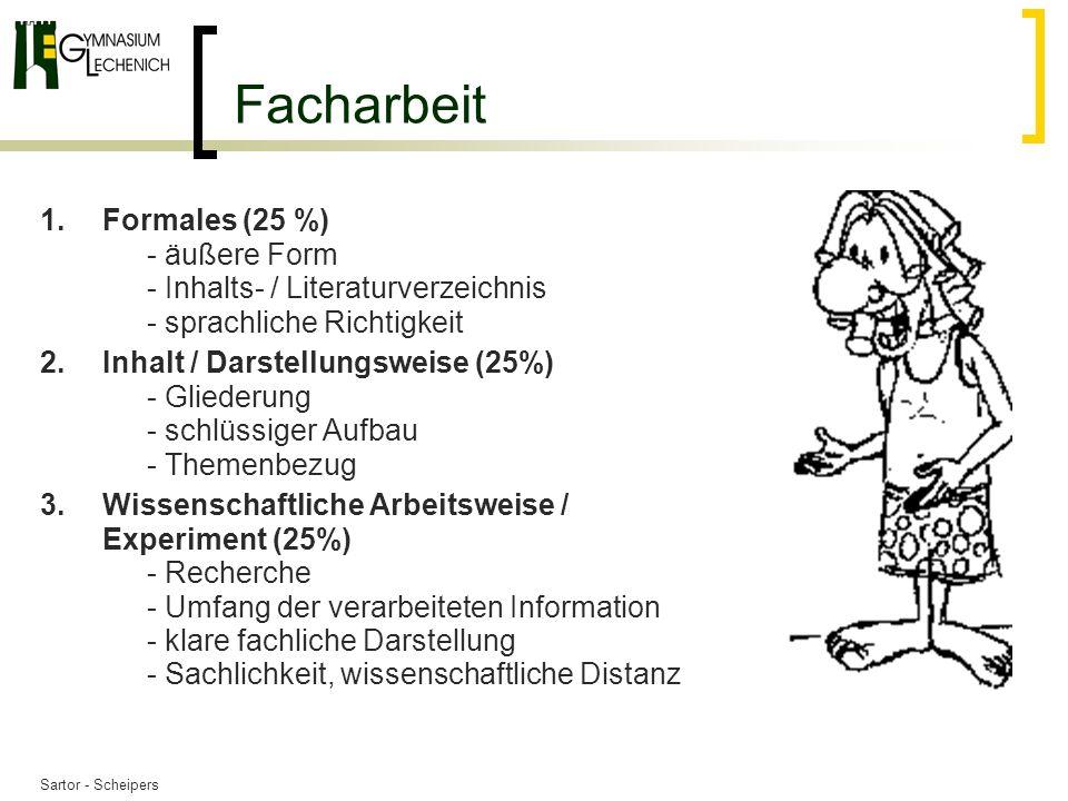 Sartor - Scheipers Facharbeit 4.