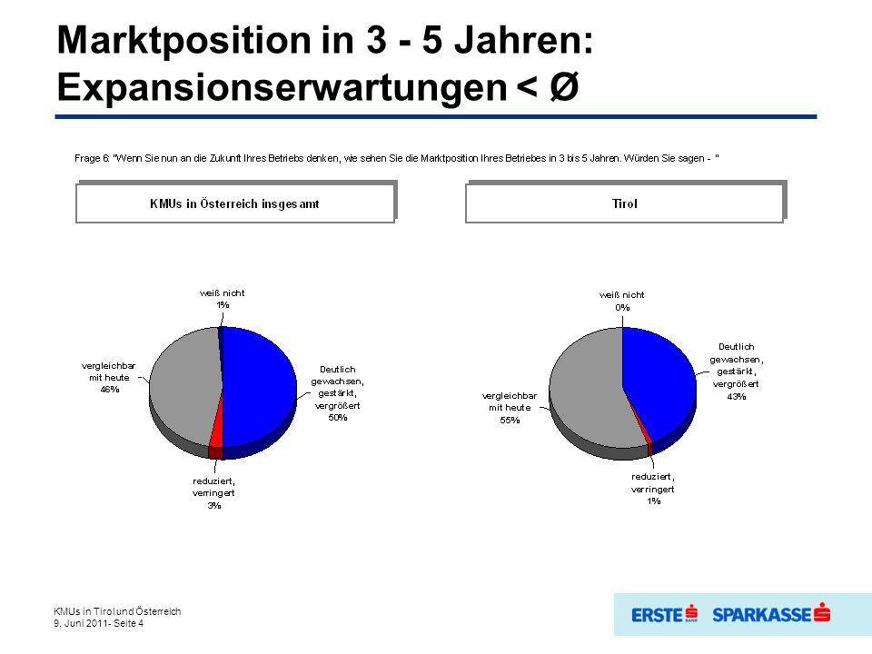 Kapitalbeschaffung: Bekannte Maßnahmen und beabsichtigte KMUs in Tirol und Österreich 9.