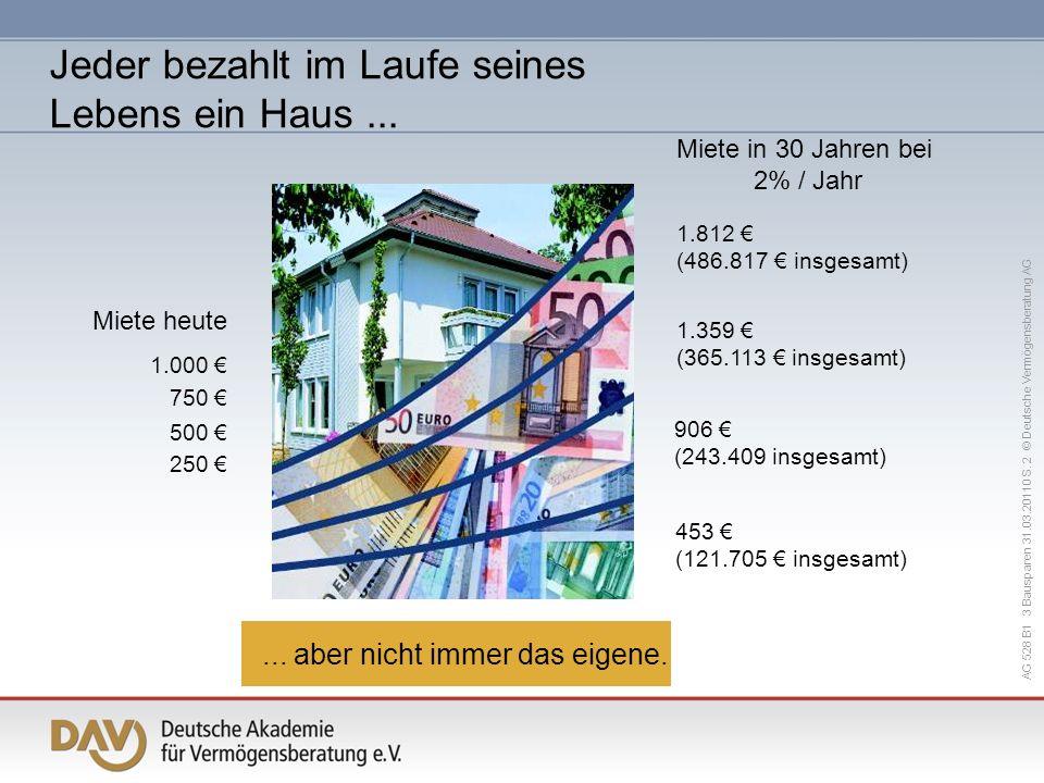 AG 528 B1 3 Bausparen 31.03.20110 S.23 © Deutsche Vermögensberatung AG...