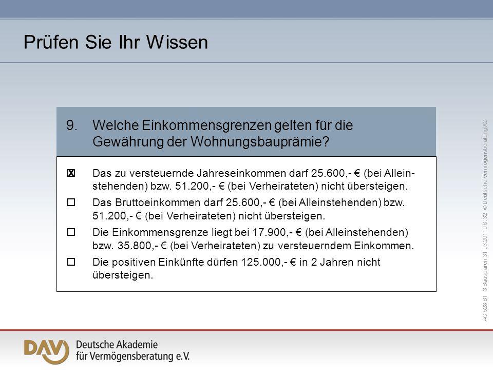 AG 528 B1 3 Bausparen 31.03.20110 S.
