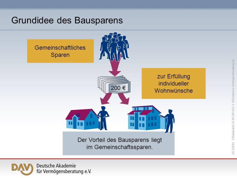 AG 528 B1 3 Bausparen 31.03.20110 S.17 © Deutsche Vermögensberatung AG Bausparsumme mind.
