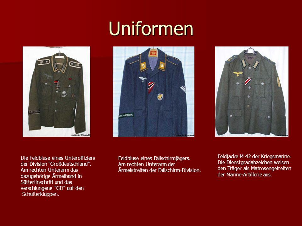 Uniformen Die Feldbluse eines Unteroffiziers der Division