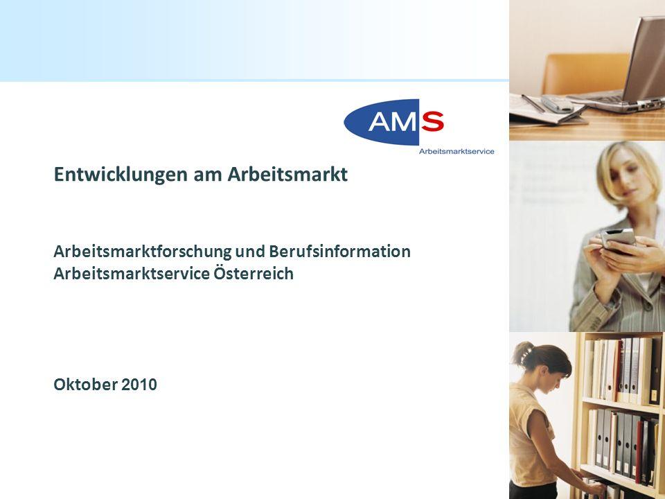 Titelmasterformat durch Klicken bearbeiten Arbeitsmarktservice Österreich / ABI 1 Entwicklungen am Arbeitsmarkt Arbeitsmarktforschung und Berufsinform