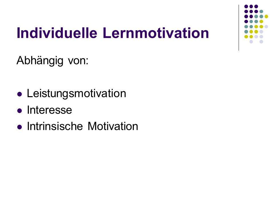 Frühere Befunde Hoch leistungsmotivierte Lerner verwenden mehr Zeit auf Lernaktivitäten und führen diese häufiger und regelmäßiger aus (Ludwig, 1982).
