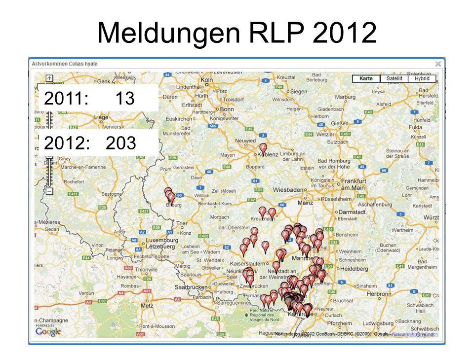 Meldungen RLP 2012 2012: 203 2011: 13