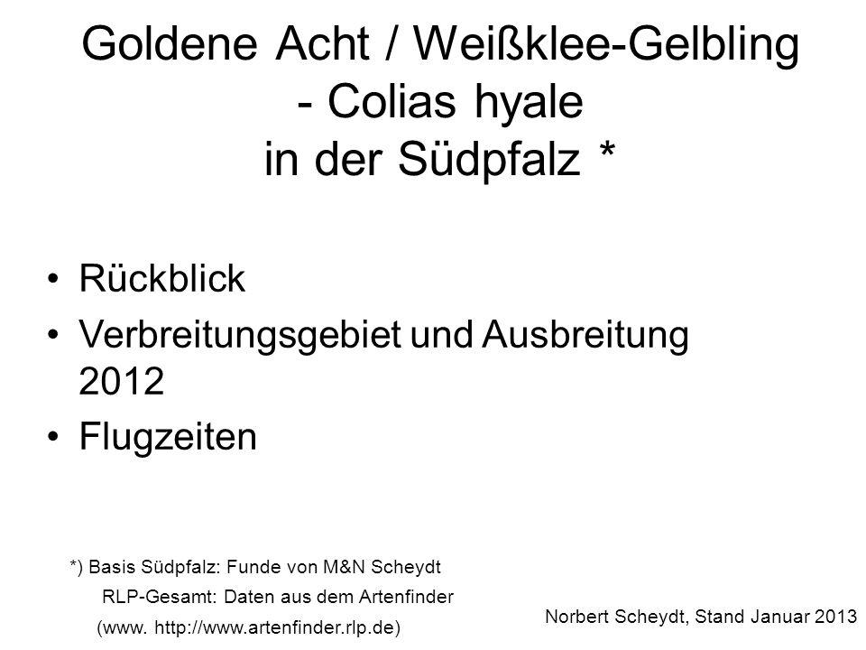 Letzte Funde Kw43 (am 22.10.12)