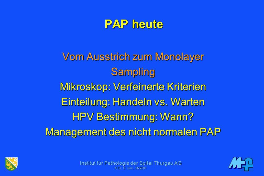 Institut für Pathologie der Spital Thurgau AG © Dr. C. Moll, 11/2006 Causes of Non-Detection & Sources of Error Inadequate SamplingInadequate Sampling