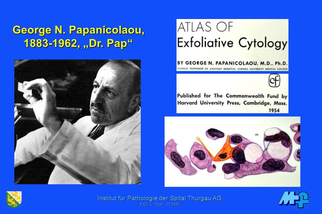 Institut für Pathologie der Spital Thurgau AG © Dr. C. Mol, 06/2001 Gynäkozytologie Epidemiologische Bedeutung Technik des Pap Abstrichs Zytologisches