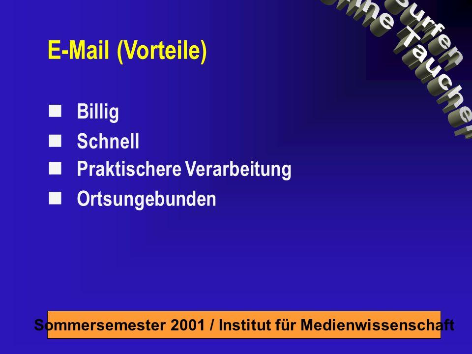 Billig Schnell Praktischere Verarbeitung Ortsungebunden E-Mail (Vorteile)
