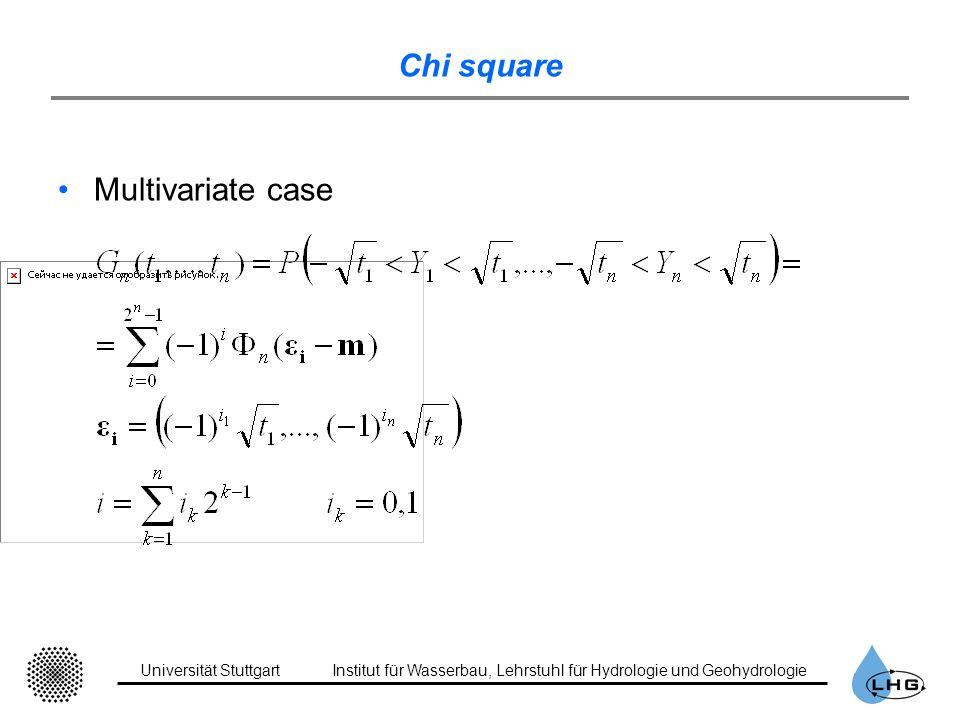 Universität StuttgartInstitut für Wasserbau, Lehrstuhl für Hydrologie und Geohydrologie Chi square Multivariate case