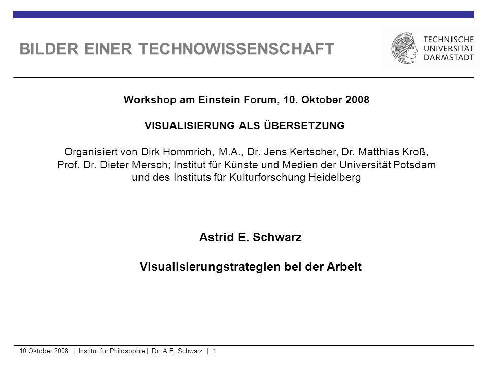 10.Oktober.2008 | Institut für Philosophie | Dr. A.E. Schwarz | 2 BILDER EINER TECHNOWISSENSCHAFT