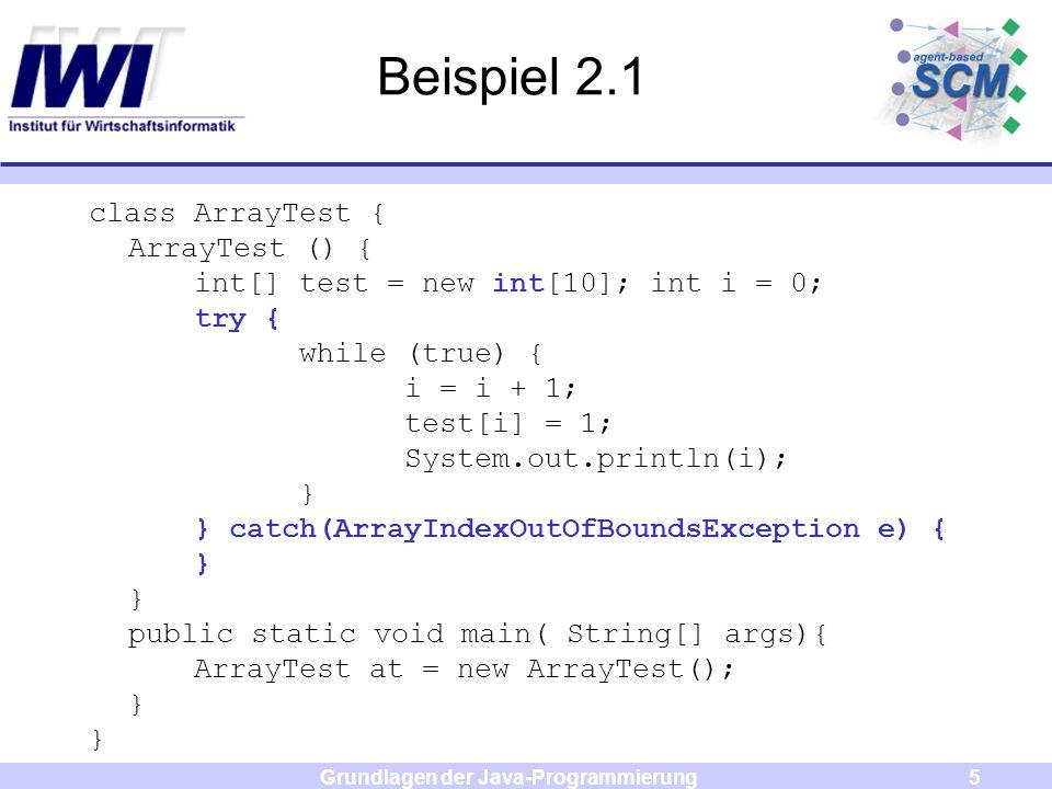 Grundlagen der Java-Programmierung6 JAVA: Pakete Zusammenfassung ähnlicher Klassen in Paketen.