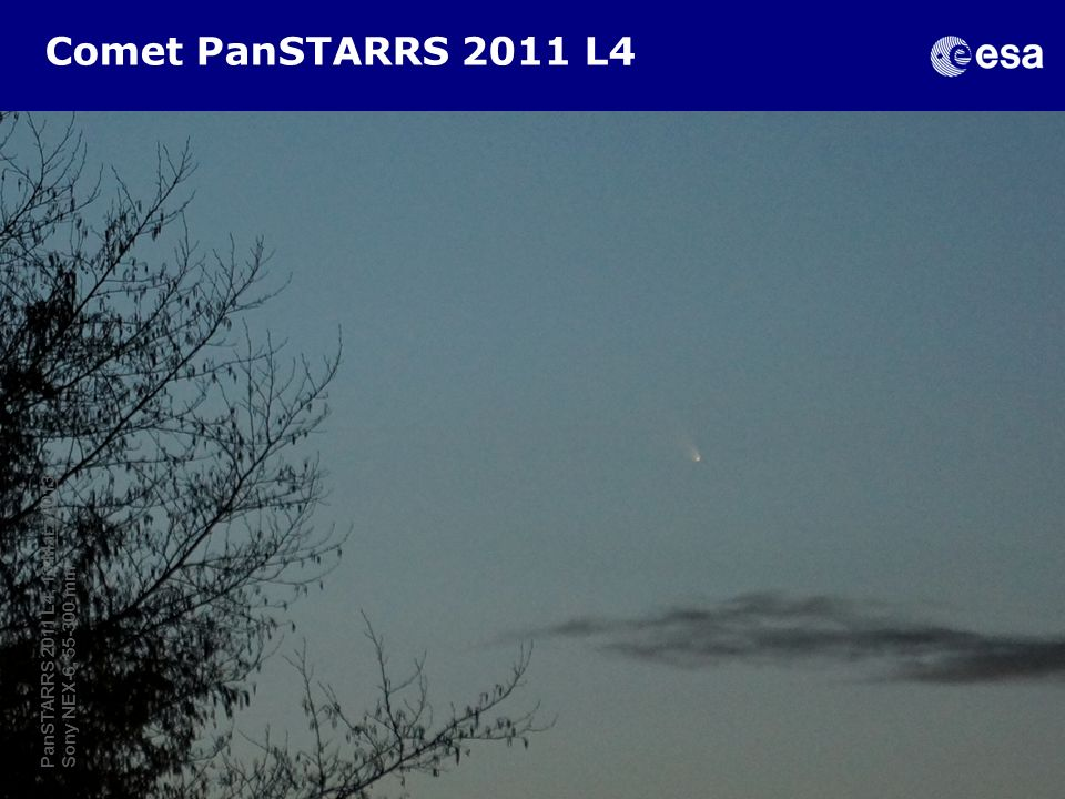 Comet PanSTARRS 2011 L4 The SSA-NEO Segment, Feb 2013, D.