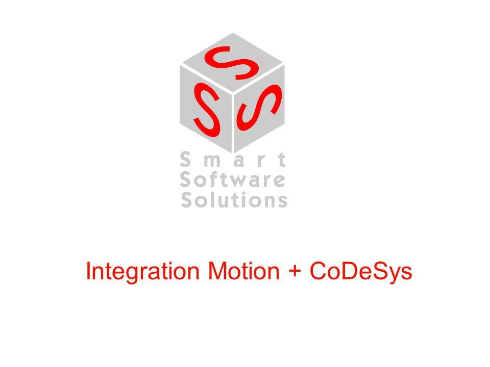 Integration CoDeSys + Motion Was wird unter Motion verstanden.