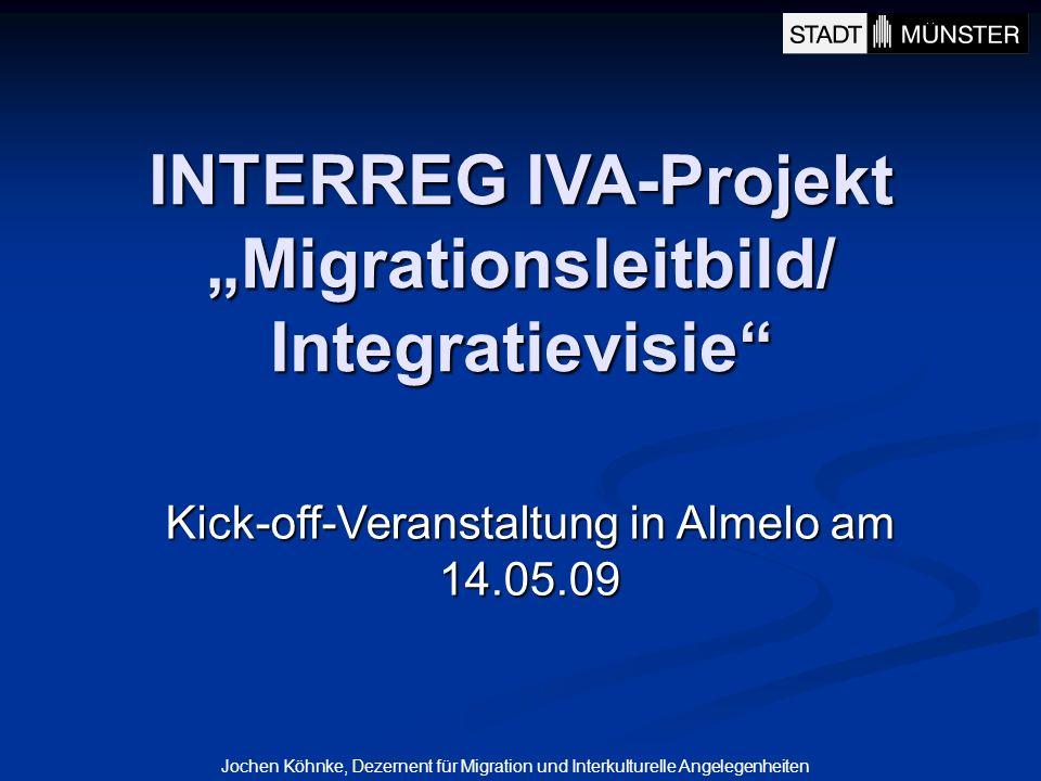 Jochen Köhnke, Dezernent für Migration und Interkulturelle Angelegenheiten INTERREG IVA-Projekt Migrationsleitbild/ Integratievisie Kick-off-Veranstal