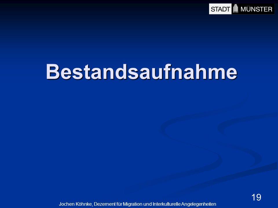 19 Bestandsaufnahme Jochen Köhnke, Dezernent für Migration und Interkulturelle Angelegenheiten