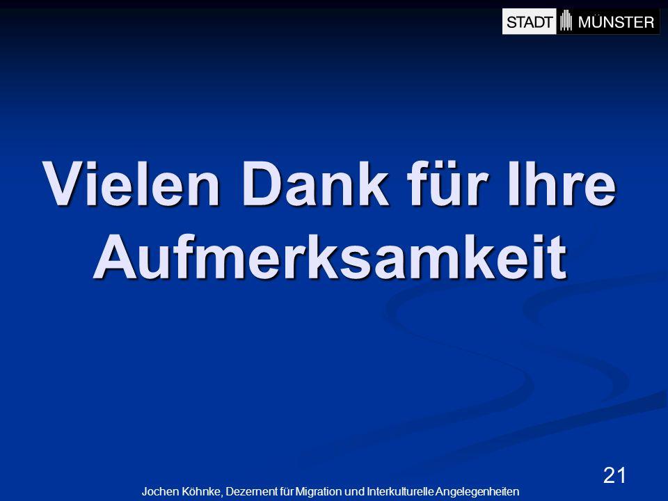 21 Vielen Dank für Ihre Aufmerksamkeit Jochen Köhnke, Dezernent für Migration und Interkulturelle Angelegenheiten
