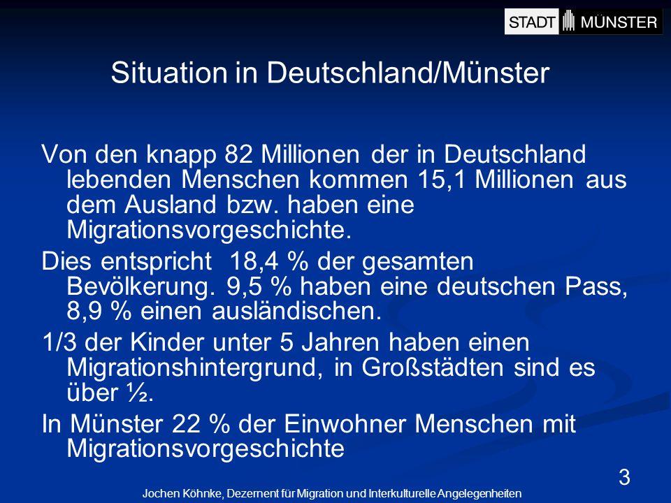 3 Von den knapp 82 Millionen der in Deutschland lebenden Menschen kommen 15,1 Millionen aus dem Ausland bzw. haben eine Migrationsvorgeschichte. Dies