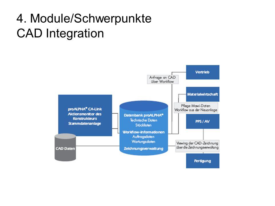 4. Module/Schwerpunkte CAD Integration