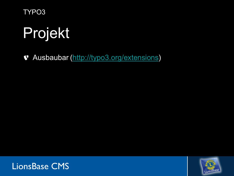 TYPO3 Projekt Ausbaubar (http://typo3.org/extensions)http://typo3.org/extensions