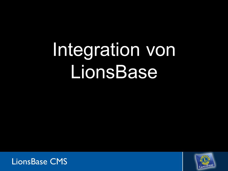 Aktueller Mechanismus MySQL LionsBase Extensions Microsoft SQL Server LCI Oak Brook Abstraktions- schicht