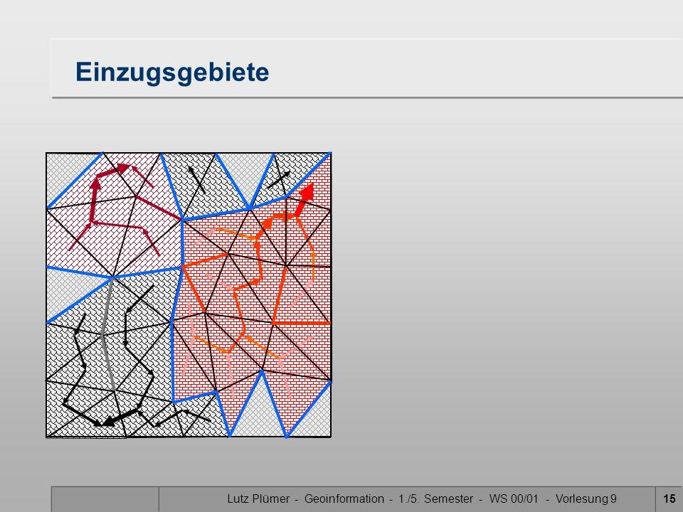Lutz Plümer - Geoinformation - 1./5. Semester - WS 00/01 - Vorlesung 915 Einzugsgebiete