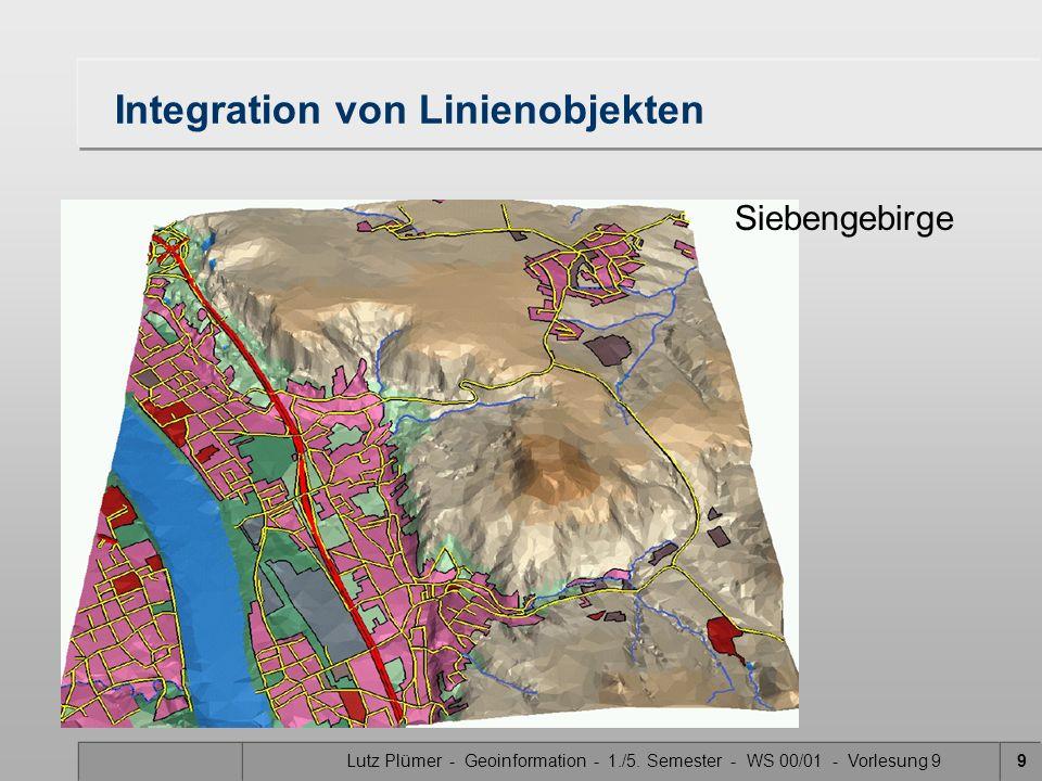 Lutz Plümer - Geoinformation - 1./5. Semester - WS 00/01 - Vorlesung 99 Integration von Linienobjekten Siebengebirge