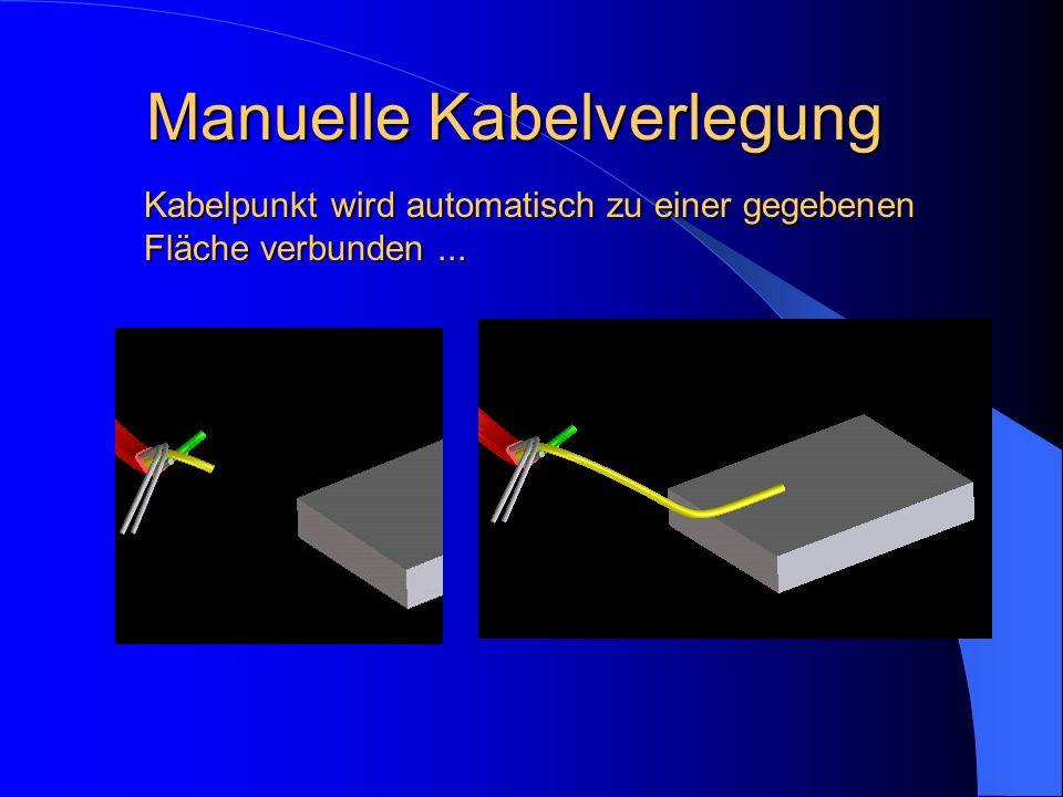 Kabelpunkt wird automatisch zu einer gegebenen Fläche verbunden...
