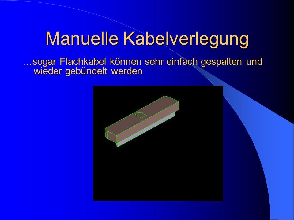 Manuelle Kabelverlegung …sogar Flachkabel können sehr einfach gespalten und wieder gebündelt werden