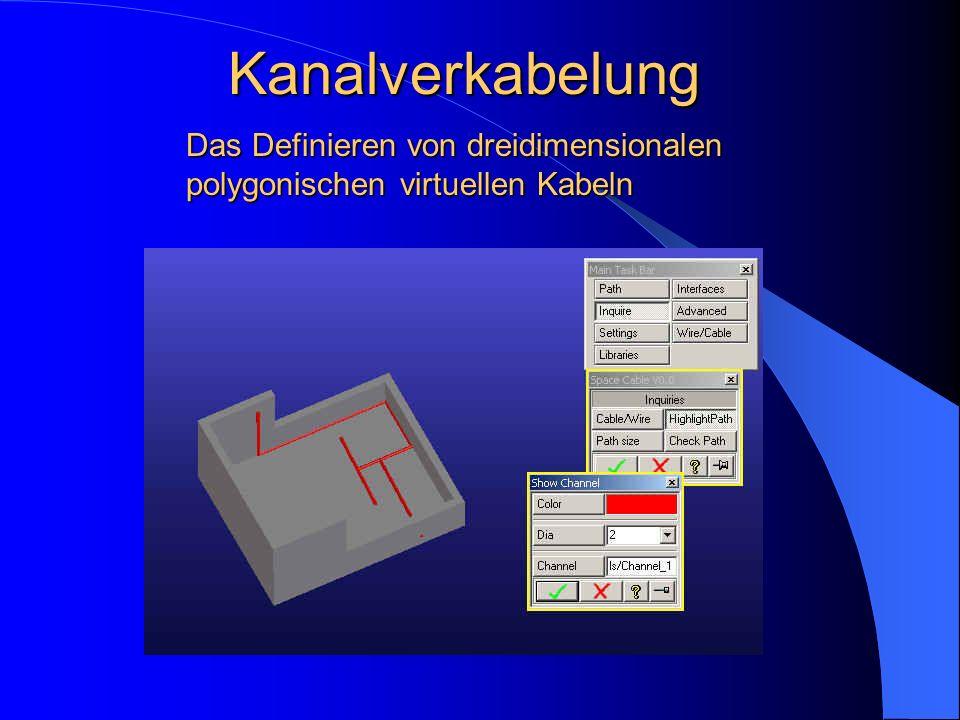 Kanalverkabelung Das Definieren von dreidimensionalen polygonischen virtuellen Kabeln