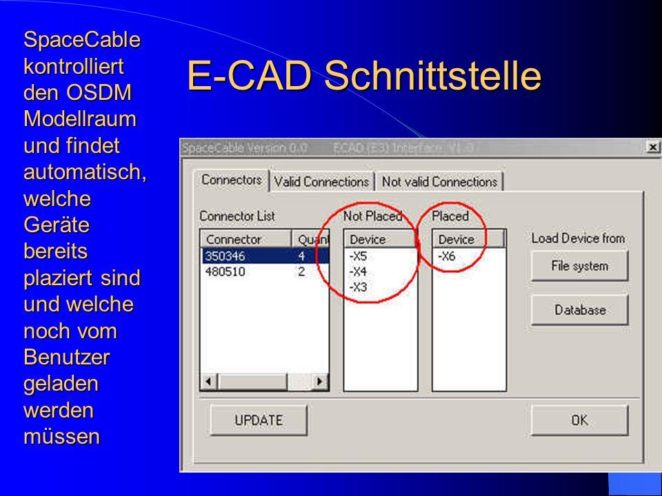 SpaceCable kontrolliert den OSDM Modellraum und findet automatisch, welche Geräte bereits plaziert sind und welche noch vom Benutzer geladen werden mü