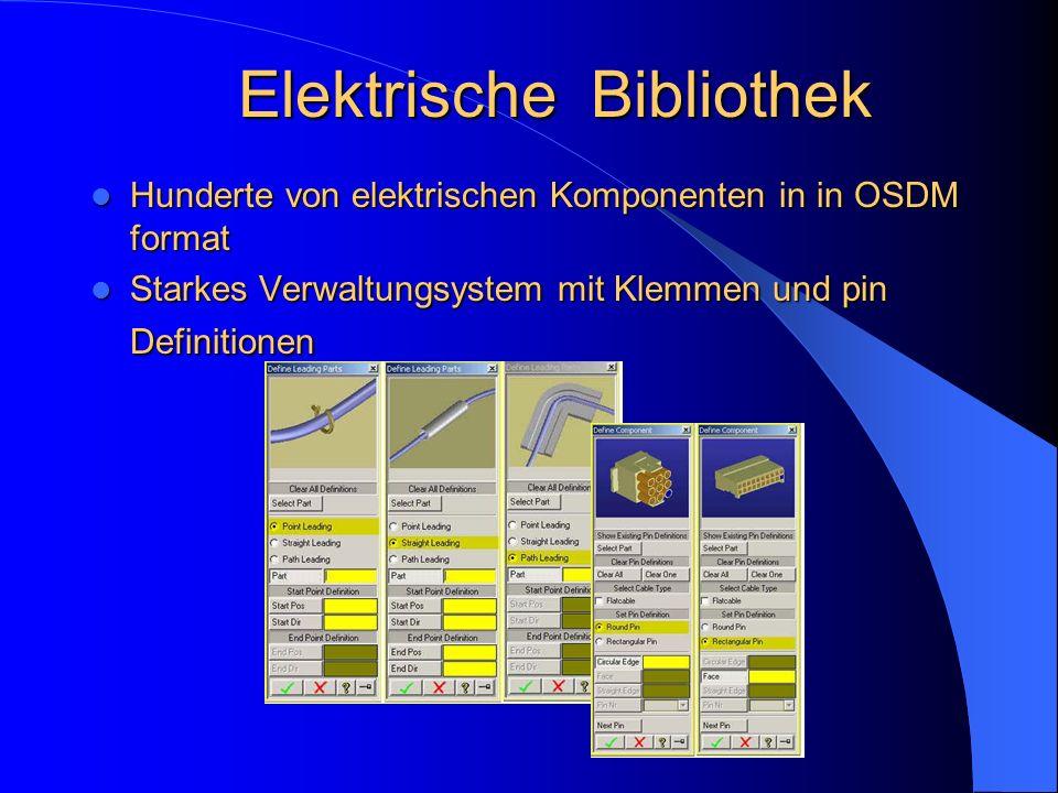 Elektrische Bibliothek Hunderte von elektrischen Komponenten in in OSDM format Hunderte von elektrischen Komponenten in in OSDM format Starkes Verwalt