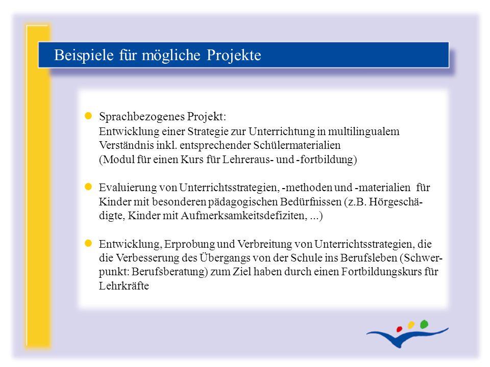 lSprachbezogenes Projekt: Entwicklung einer Strategie zur Unterrichtung in multilingualem Verständnis inkl. entsprechender Schülermaterialien (Modul f